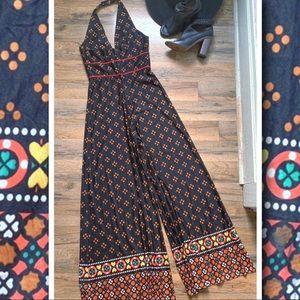 Pants - Vintage Mod Halter Jumpsuit